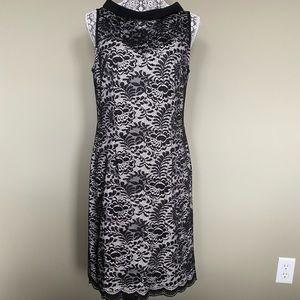 Ivanka Trump Black & White Lace Dress